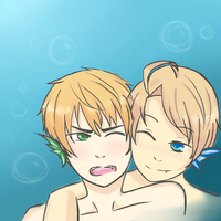 Mermen- USUK by Foreign-Compromise