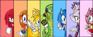 Sonic Rainbow by LittleMissScarlet