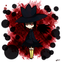 Murkrow Gijinka by sinistergrumpy