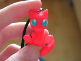 Another Mew keychain by FlameTheFlareon