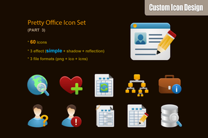 Pretty Office Icon Set part 3 by customicondesign
