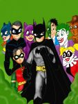 Batman family and foes by Rene-L