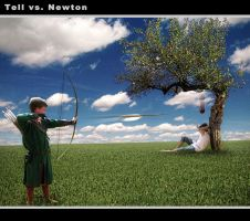 Tell versus Newton by Art-Kombinat