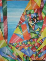 woman in Cubism by 56horse