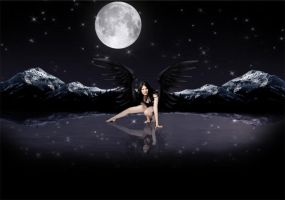 Night Time Angel by templewatts