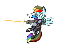 Fallout Ponies - Rainbow Dash by Metal-Kitty