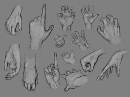 Hand studies by FranzNacion