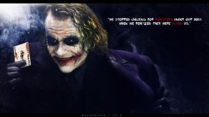 JOKER: We stopped searching for monsters... by redxpoison