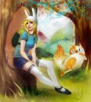 AT. Fionna and Cake by GuppyBlue