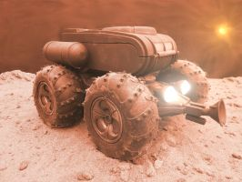 Mars Shuttle Rover Front by skphile