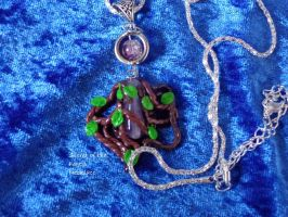Secret of the Forest - Night Elf style Necklace by LoekazCharms