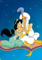 Jasmine and Aladdin by Zaiyuri