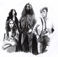Soundgarden almost caricatures by GrungeIndiani