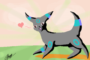Default Palette Umbreon by StarFirefly26