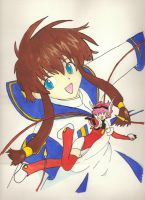 Angelic Layer in watercolors. by Makiiiii