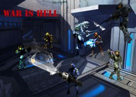 Halo 3 battle by kyo4455
