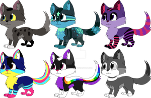 Cat adoptables CLOSED by AdolfWolfed4Life