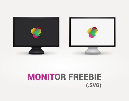 FREE Monitor template (.SVG) by 0rAX0