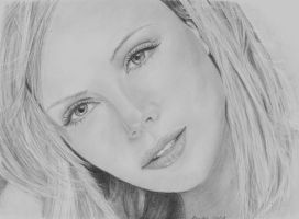 Charlize Theron for contest by Dragonsanddaffodils