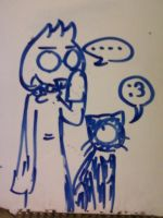 Dinami and Kveikur on a Whiteboard by Mister-Saturn