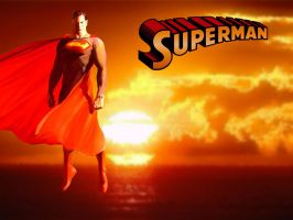 Sunset Superman by Alex Ross by Superman8193