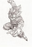 Super Vegito shaded by superheroarts