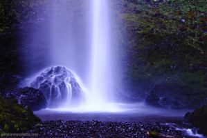 Latourell Falls Black Light 3 by worldtravel04