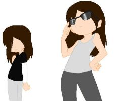 My Twin again and me -.- by GrimTalesLover14