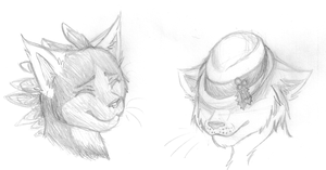 Treff and Aire Portraits again by Hawksfeathers97