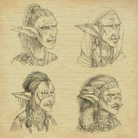 Female trolls by FaPlastilinka