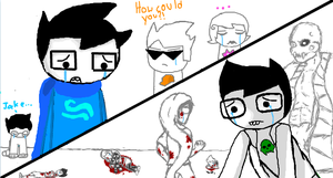 iscribble sadstuck John and Jake by Bluemoon8224