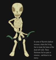 Ponified Skyrim loading screen: Skeleton by glue123