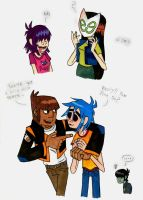 Burners and Gorillaz by Piddies0709