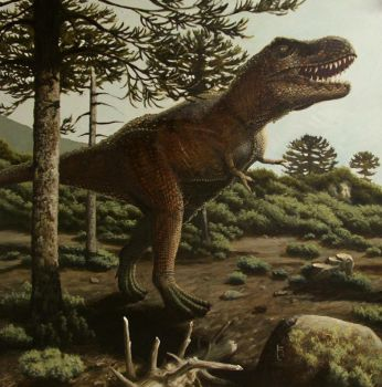 T Rex Painting by SirGrunt