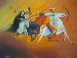The Ride Of The Four Horsemen by casey62