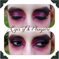Vampire Eye Makeup by MutePoetess