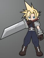 Cloud ~ Final Fantasy VII [chibi ver.] by Ruwah
