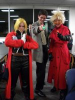 Ed, Vash, and Doctor Who 11 by Dusha-Soul