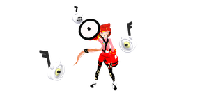 iroha nekomura: kio face this time by Tehrainbowllama