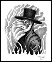 Plague Doctor - tattoo design by mooninthescorpio
