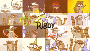 Rigby Wallpaper V2 by WolfieDrake