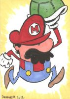 Mario Sketch Card by thecheckeredman