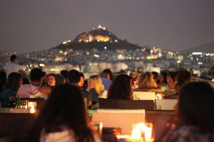 Athenian rooftop cafe by sethyx1