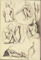 Figure drawing page by KennySwanston