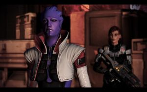 ME3 Shepard and Aria 7 by chicksaw2002
