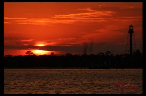 Anclote Lighthouse Sunset 4 of 4 by WatchTower513