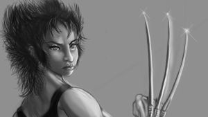 female wolverine sketch by mechaguy