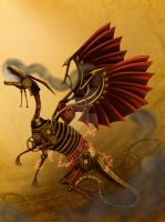 Steampunk dragon for Outcast Odyssey by BlackdragonVania