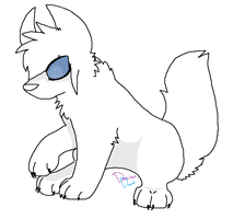 Free Canine Lineart (MS paint friendly) by DetritusDroid