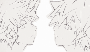 Kingdom Hearts - Roxas and Sora by amberleechee
